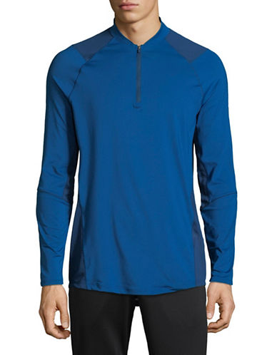 Under Armour MK-1 Quarter-Zip Long Sleeve Shirt-BLUE-Small 89819661_BLUE_Small