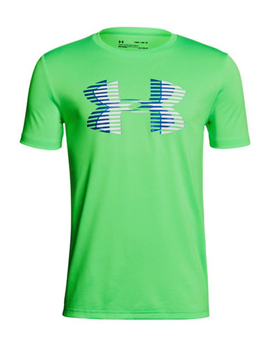 Under Armour Logo Cotton T-Shirt-GREEN-Small 89939249_GREEN_Small