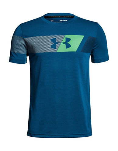 Under Armour BB Thread Short-Sleeve T-Shirt-BLUE-Medium