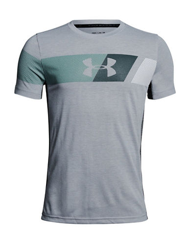 Under Armour BB Thread Short-Sleeve T-Shirt-OVERCAST GRAY-Small