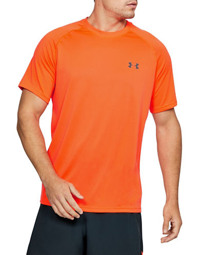 Under Armour Tech Short-Sleeve T-Shirt-ORANGE-X-Large