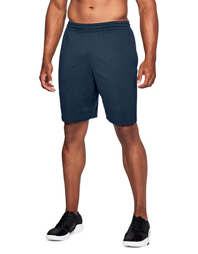 Under Armour Raid Mesh-Paneled Shorts-BLUE-Small