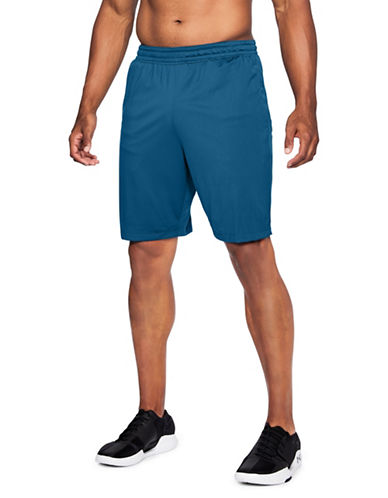 Under Armour Raid Mesh-Paneled Shorts-MOROCCAN BLUE-X-Large