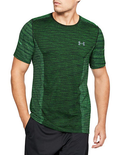 Under Armour Threadborne Seamless Short Sleeve Top-GREEN-Large 90033932_GREEN_Large