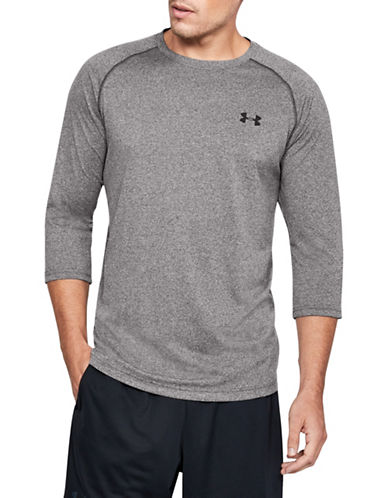 Under Armour Tech Three-Quarter Sleeve T-Shirt-CHARCOAL-X-Large 89819579_CHARCOAL_X-Large