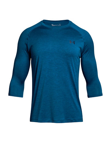 Under Armour Tech Three-Quarter Sleeve T-Shirt-MOROCCAN BLUE-Medium 89819584_MOROCCAN BLUE_Medium