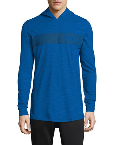 Under Armour Sportstyle Core Hoodie-BLUE-X-Large