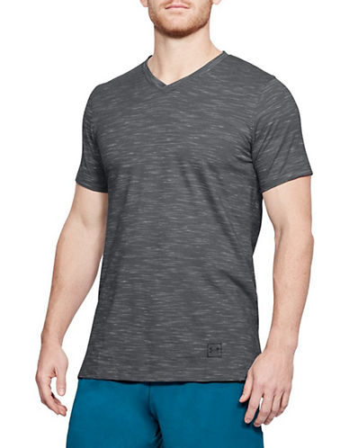 Under Armour Sportstyle Core V-Neck Tee-GREY-Large 90034059_GREY_Large