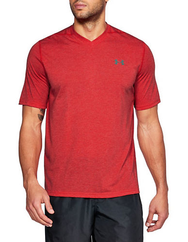 Under Armour Threadborne V-Neck T-Shirt-RED-X-Large 90090442_RED_X-Large