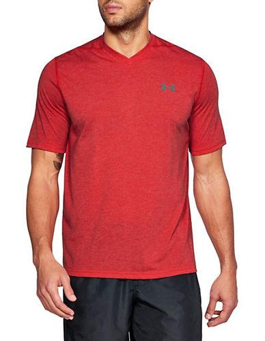 Under Armour Threadborne V-Neck T-Shirt-RED-Medium 90090440_RED_Medium