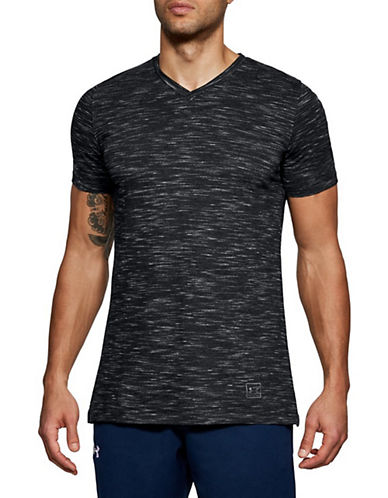 Under Armour Sportstyle Core V-Neck Tee-BLACK-Medium 90034053_BLACK_Medium