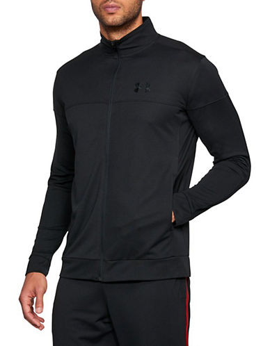 Under Armour Sportstyle Pique Track Jacket-BLACK-Small 90090474_BLACK_Small