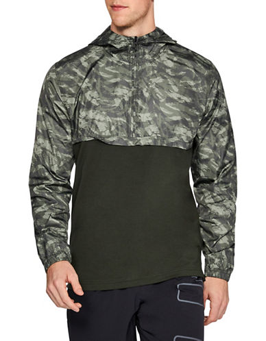 Under Armour Camouflage Wind Anorak-GREEN-Large