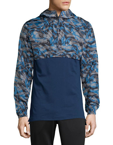 Under Armour Wind Printed Anorak-BLUE-X-Small