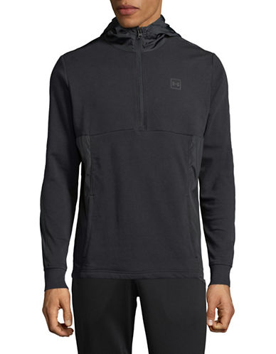 Under Armour Threadborne Terry Hoodie-BLACK-Small