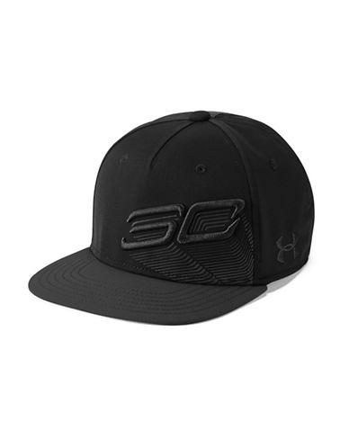Under Armour Tilted Logo Snapback Cap-BLACK-One Size