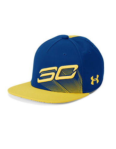 Under Armour Tilted Logo Snapback Cap-ROYAL-One Size