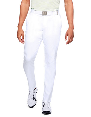 Under Armour Showdown Tapered Pants-WHITE-40X32