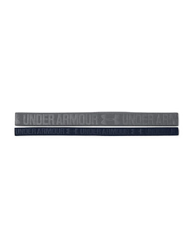 Under Armour Two-Pack Embossed Headbands-GRAPHITE-One Size 90110121_GRAPHITE_One Size