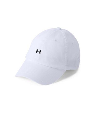 Under Armour Favourite Logo Cotton Baseball Cap-WHITE-One Size 89844786_WHITE_One Size