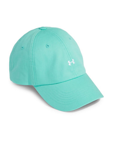 Under Armour Logo Cotton Baseball Cap-TROP TIDE-One Size 89844788_TROP TIDE_One Size