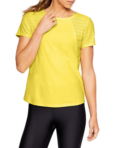 Under Armour Vanish Disrupt Mesh Short-Sleeve Tee-LEMON-Medium