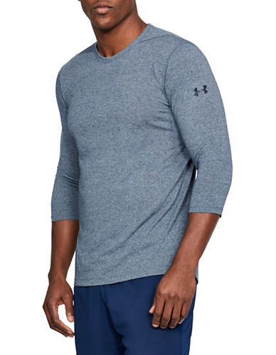 Under Armour Threadborne Power-Sleeve Tee-BLUE-X-Large 89732050_BLUE_X-Large