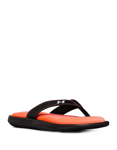 Under Armour Marbella VI Flip Flops-BLACK/ORANGE-11