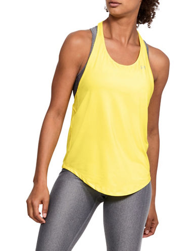 Under Armour HeatGear Mesh Tank Top-YELLOW-Medium 89993369_YELLOW_Medium