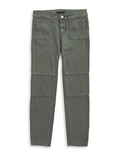 Material Girl Utility-Style Jeans-OLIVE-12