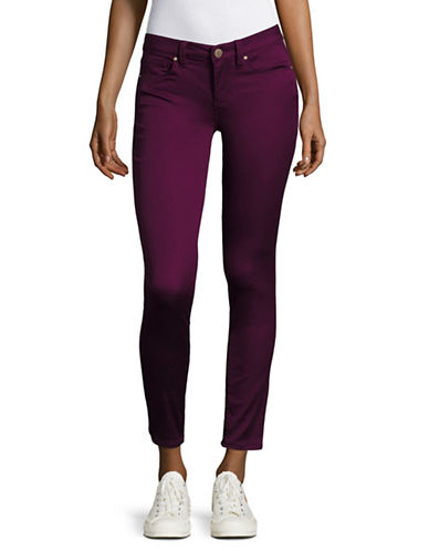 Design Lab Lord & Taylor Solid Skinny Jeans-TUSCAN PURPLE-27