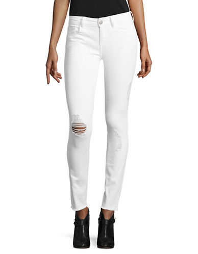 Design Lab Lord & Taylor Low-Rise Skinny Jeans-WHITE-30