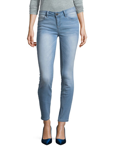 Design Lab Lord & Taylor Low-Rise Skinny Jeans-NIKI WASH-28