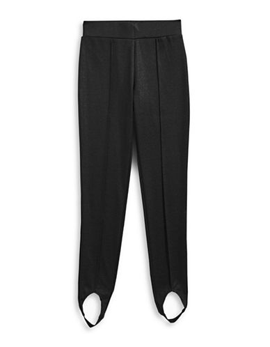 Material Girl Stirrup Leggings-BLACK-Small