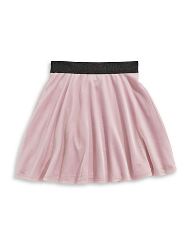 Material Girl Lurex Skater Skirt-PINK-Large