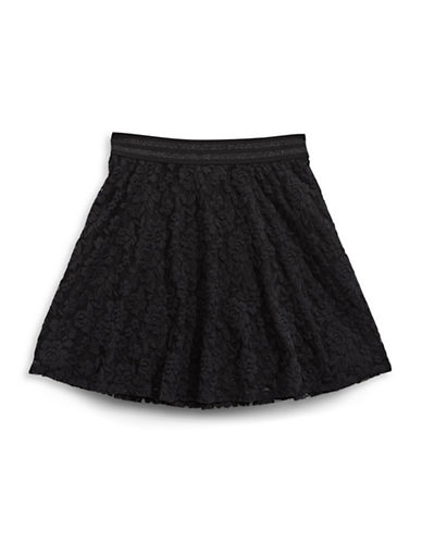 Material Girl Lace Skater Skirt-BLACK-X-Large