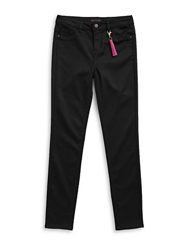 Material Girl Stretch Skinny Jeans-BLACK-14