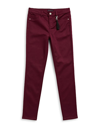 Material Girl Stretch Skinny Jeans-WINE-7