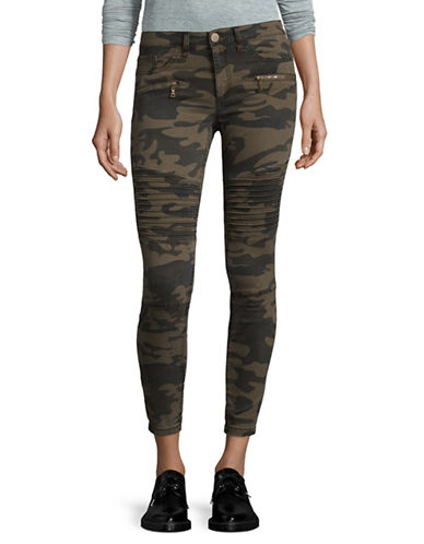 Design Lab Lord & Taylor Stretch-Fit Camo Skinny Jeans-GREEN-30