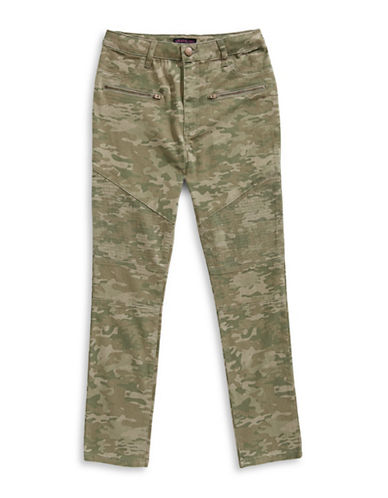 Material Girl Camouflage Skinny Jeans-GREEN-16