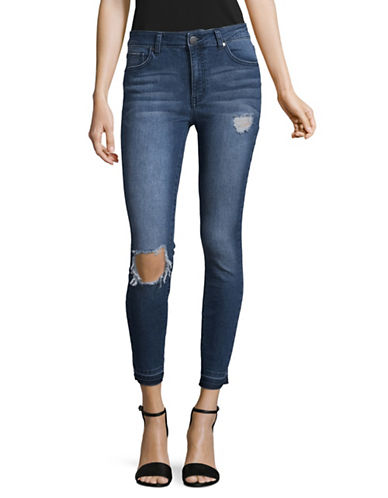 Design Lab Lord & Taylor High-Rise Skinny Jeans-GREY-32