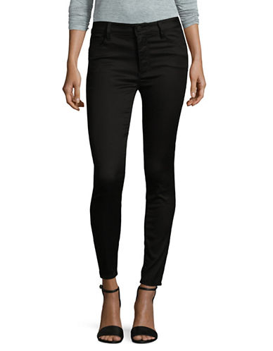 Design Lab Lord & Taylor High-Rise Skinny Jeans-BLACK-26