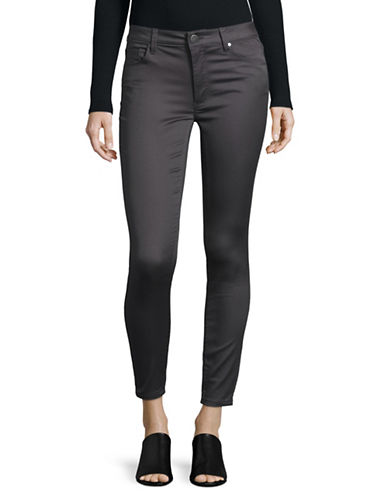 Design Lab Lord & Taylor High-Rise Skinny Jeans-GREY-28
