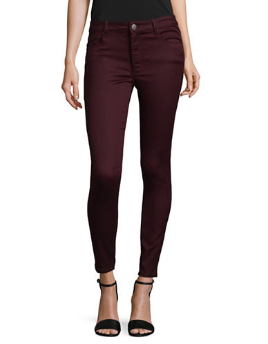Design Lab Lord & Taylor High-Rise Skinny Jeans-PURPLE-29