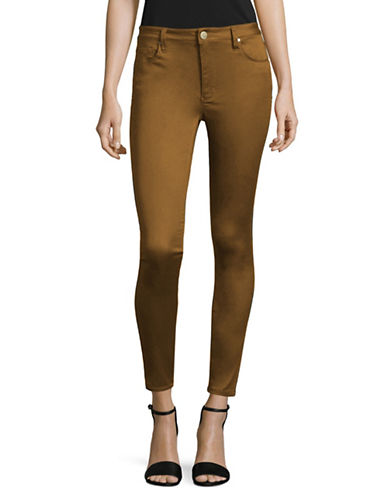 Design Lab Lord & Taylor High-Rise Skinny Jeans-YELLOW-30