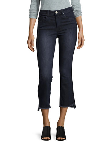 Design Lab Lord & Taylor High-Rise Cropped Jeans-BLUE-26
