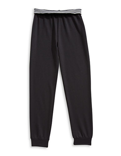 Material Girl Foldover Jogger Pants-BLACK-X-Small