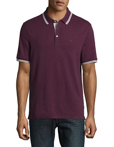 Michael Kors Logo Polo Shirt-PURPLE-Large
