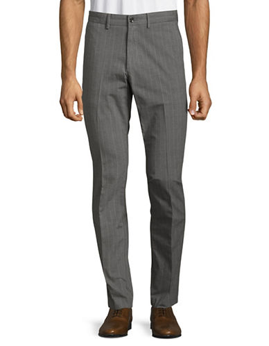 Michael Kors Slim-Fit Glen Plaid Pants-GREY-34X34