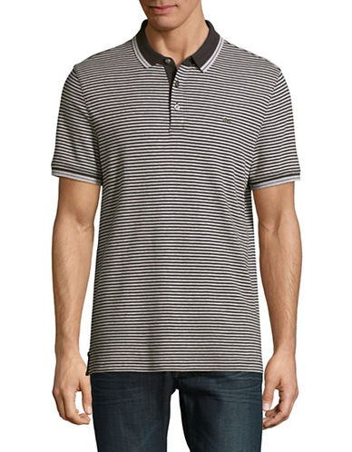Michael Kors Striped Polo-MIDNIGHT BLUE-X-Large